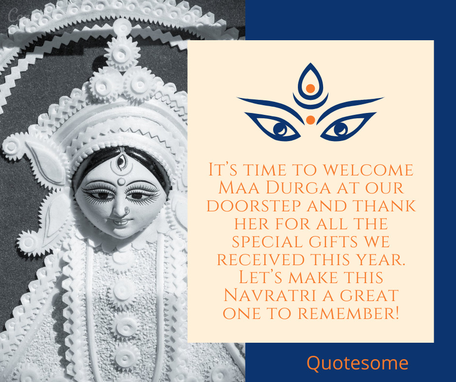 It's time to welcome Maa Durga at our doorstep and thank her for all the special gifts we received this year. Let's make this Navratri a great one to remember!