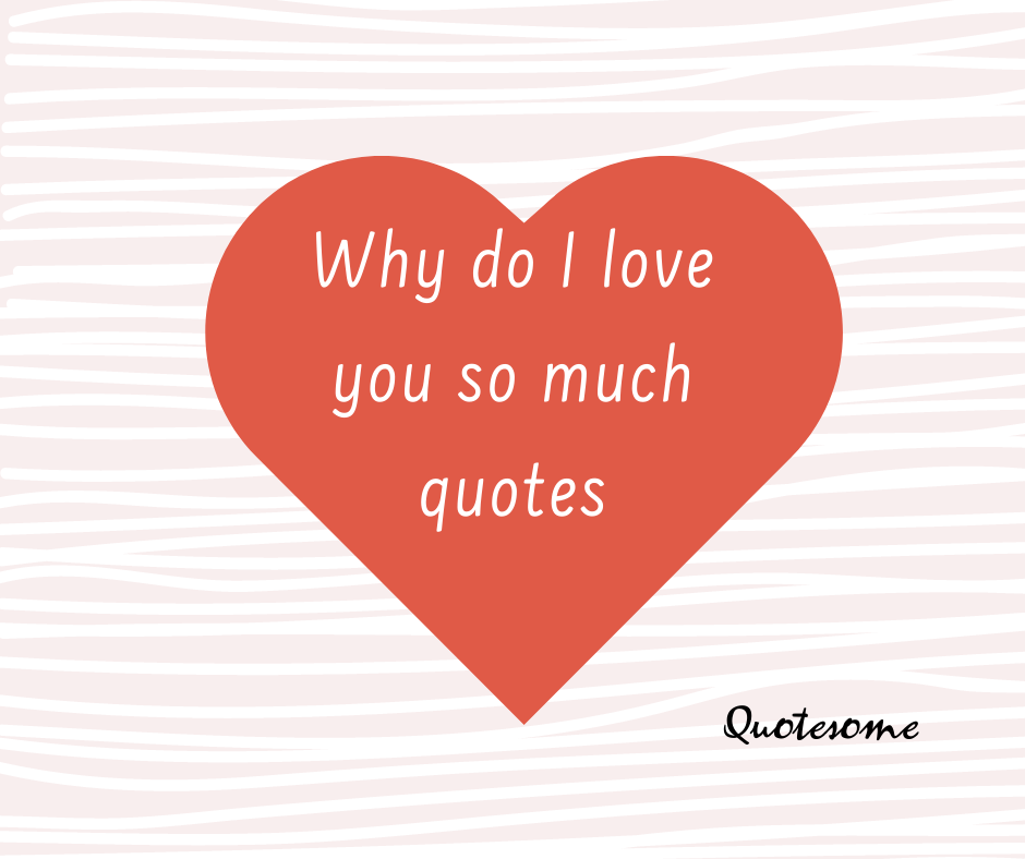 why do i love you so much quotes